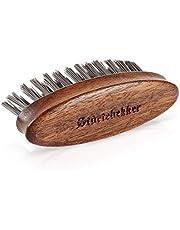 Störtebekker® Premium baardborstel, made in Germany, ontwart de baard en brengt hem in vorm, voorkomt jeuk, duurzame bioniFil borstelharen, notenhout