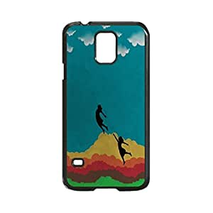 Artwork Drawing Rainbow Clouds Girls Case Durable Unique Design Hard Back Case Cover for Samsung Galaxy S5 I9600 (Regular) New
