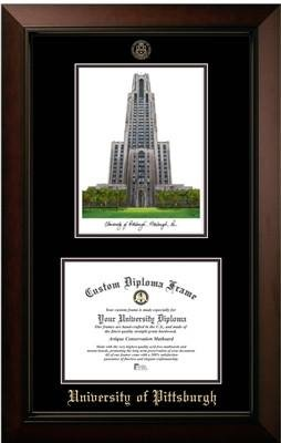 University of Pittsburgh Campus Image Diploma Frame