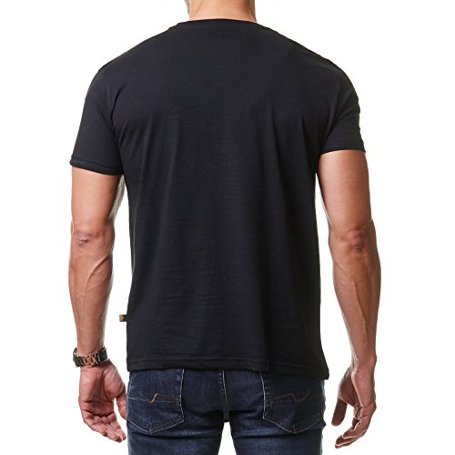 Black T shirtUomo Industries Basic blue Alpha IE9DWH2