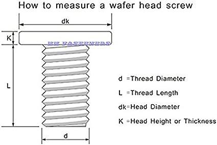 M2.5 x 6mm Wafer Head Machine Screws,Laptop Screws,Head Dia.5mm,Metric,Right hand