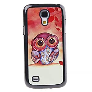 WQQ Patrón espejo colorido Cartoon Decal Owl Smooth Volver duro caso para Samsung I9190 S4 Mini