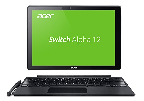 Acer Switch Alpha 12 Fit (SA5-271-FIT) 30,5 cm (12 Zoll QHD IPS) Convertible Notebook (Intel Core i5-6200U, 4GB RAM, 256GB SSD, Intel HD Graphics 520, Win 10) silber