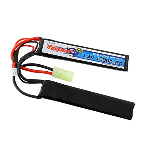 AirSoft 7.4V 1000mAh Butterfly LiPo Battery Pack w/Mini Tamiya Connector