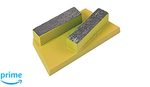 Pack of 5 Yellow, CS Unitec 37123 Diamond Inserts for Adhesive and Screed,for EBS 235.1 Floor Grinder