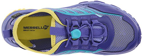 Merrell Hydro Run agua zapatos (Toddler/Little Kid/Big Kid) Blue/Turquoise/Yellow