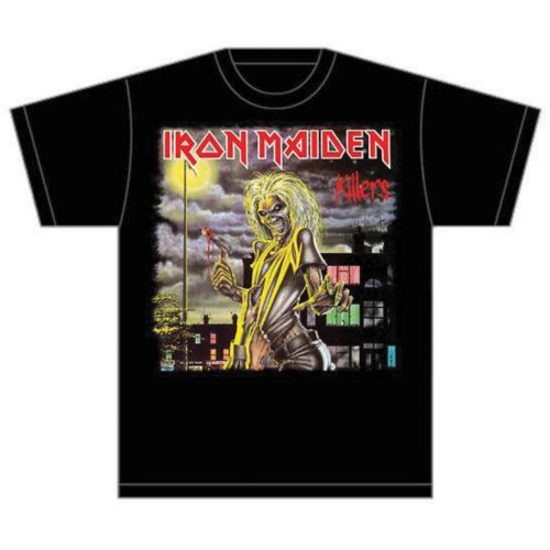 Price comparison product image Iron Maiden Men's Killers Cover Short Sleeve T-shirt,  Black,  X-large