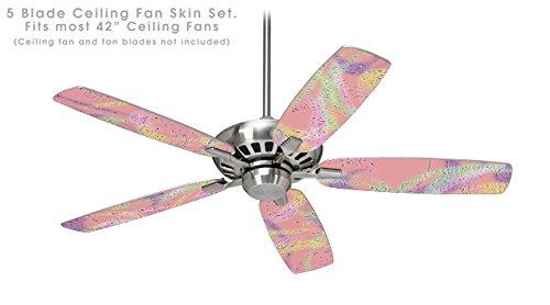 Neon swoosh on pink ceiling fan skin kit fits most 42 inch fans neon swoosh on pink ceiling fan skin kit fits most 42 inch fans fan aloadofball Images