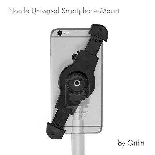 Grifiti Nootle Universal Phone Tripod Mount 1/4 20 Fits Iphones, Iphone Plus, Galaxy Smartphones - Compact Threaded Deck Mount