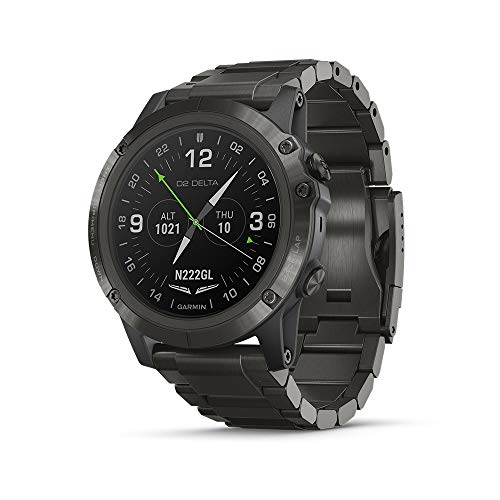 - Garmin D2 Delta PX, GPS Pilot Watch with Pulse Ox Sensor, Includes Smartwatch Features, Heart Rate and Music, Titanium with Titanium Band
