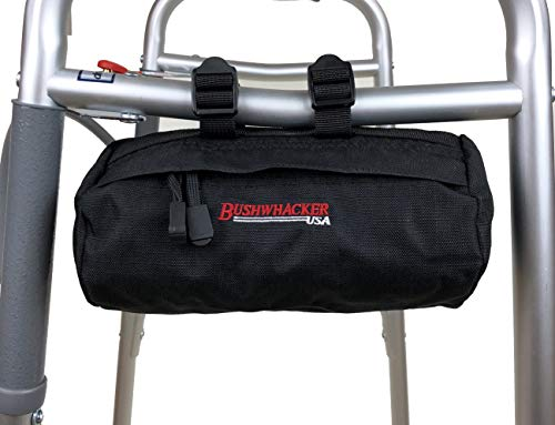 Bushwhacker Small Cylinder Bag 8.5″ x 4″ Universal Great for Walker Wheelchair Scooter Stroller Bicycle Bike Rollator Handlebar Seat Storage Accessory Pack Organizer Tote Frame Arm