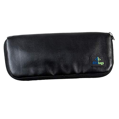 Dittibags Skinny Case - Small Travel Diabetic Wallet for Insulin Pen and Pen Tips with ID/Card Pocket (Black)