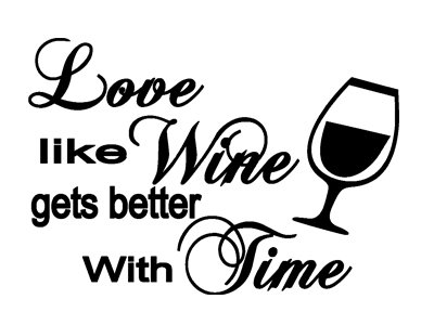 Amazon.com: Wall Quotes Saying Love Like Wine Gets Better With Time Couples  Gift Idea Vinyl: Home U0026 Kitchen