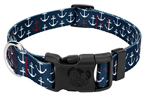 Country Brook Petz - Deluxe Anchors Away Dog Collar - Medium