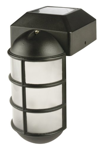 Solar Panel Fence Post Light