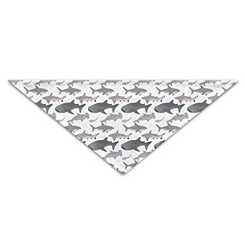 OHMYCOLOR Hammerhead Shark Fish Whale Dog Bandanas Scarves Triangle Bibs Scarfs Novelty Basic Dogs Neckerchief Cat Collars Pet Costume Accessory Kerchief for Large&Medium&Small Puppy -