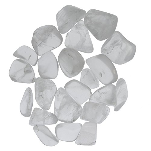 Digging Dolls: 1 lb Tumbled Girasol Quartz Stones from Madagascar – 0.75″ to 1.50″ Avg. – Exceptional Quality Rocks for Crafts, Art, Crystal Healing, Wicca, Reiki and More!