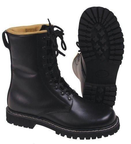 Diverse BNIB - Botas militares de estilo alemán (9 ojales, tallas de la 37 a la 47), color negro Talla:13