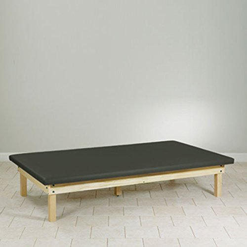 Upholstered top Mat Platform Treatment Table Wood frame 4 x 7 - Mat Upholstered Platform