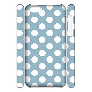 D-PAFD Customized 3D case Polka dot for iPhone 5C