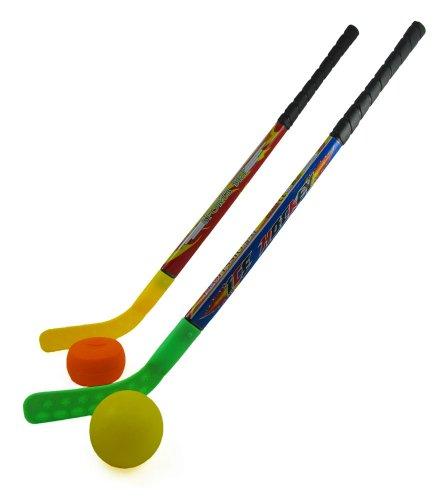 Sports Hockey Set for Kids w/ 2 Hockey Sticks, Puck & Ball ...
