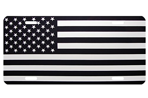 Race Car Driver Frame (NEW AMERICAN FLAG METAL NOVELTY LICENSE PLATE TAG CARS BLACK AND WHITE FORMAT)