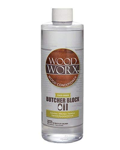 WoodWorx Butcher Block and Cutting Board Oil Conditioner - Food Grade NSF Certified - 16 Ounce Bottle