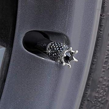 Valigrate 4 st/ücke Auto Strass Reifen Ventilkappen Kristall Gl/änzende Luftkappen Auto Zubeh/ör