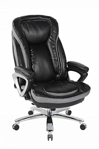 Big & Tall Executive Office Chair, High Back Bonded Leather Office Big Size + FREE (Tall Acrylic Canopy)