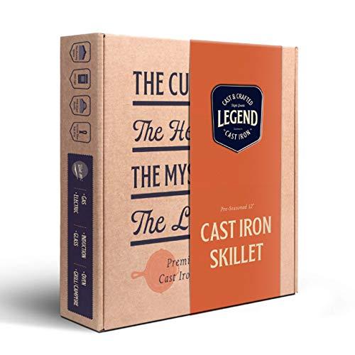 Legend Cast Iron Skillet 12 Inch Helper Handle