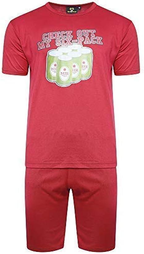 Get-The-Trend - Pijama - para Hombre Rojo Six Pack Pjs Burgundy XL: Amazon.es: Ropa y accesorios
