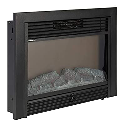 Best Choice Products VD-51075WH Embedded Fireplace Electric Insert Heater Glass View Log Flame Remote Home, 28.5""