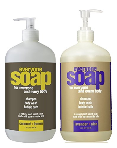 Everyone 3-in-1 Soap, Lavender plus Aloe Coconut plus Lemon 32 Ounce Each