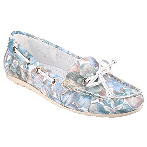 B00JA8MO1G. Riva Wells Damen Schuhe Ballerinas Slippers Halbschuhe  Damenschuhe Sommerschuhe Blau