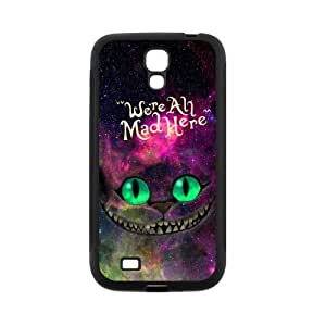 Nebula Galaxy Space Cheshire Cat Protective Rubber Cell Phone Cover Case for SamSung Galaxy S4,SIV Cases