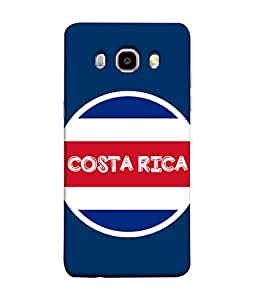 ColorKing Football Costa Rica 04 Blue shell case cover for Samsung J5 2016