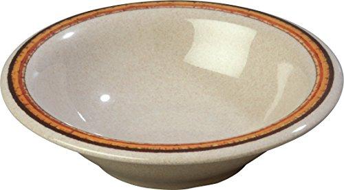 Carlisle 43037908 Durus Designer Pattern 12-oz. Rimmed Bowl, 7.24'' Diameter, Sierra Sand on Sand (Case of 24) by Carlisle