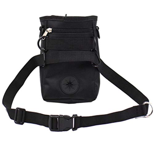 Detachable Girth Ring (JORCOKA Portable Dog Outdoor Training Treat Bags Pet Dogs Pouch Feed Storage Pouch Puppy Snack Reward Detachable Waist Bag with Belt)
