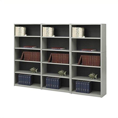 Safco ValueMate 5 Shelf Wall Economy Steel Bookcase - Safco Steel Bookcase