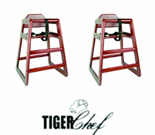 TigerChef TC-20197 Wooden High Chair (Pack of 2)