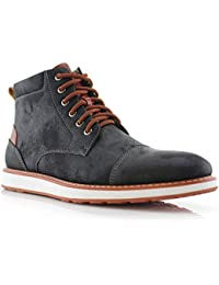 Birt MFA506027 Mens Memory Foam Casual Mid-Top Sneaker Desert Vegan Leather Chukka Boots