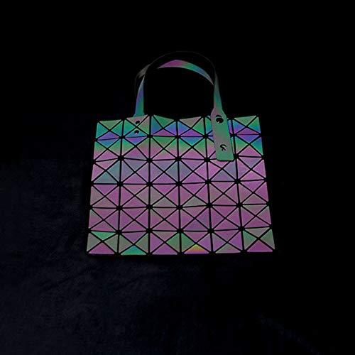 Femmes Géométrique AIURBAG À Fendu Sac Hologramme Joint Bandoulière Plaid OqErpEdx