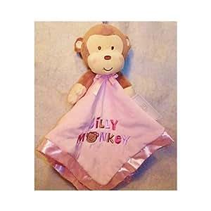 Amazon Com Baby Gear Pink Monkey Security Blanket