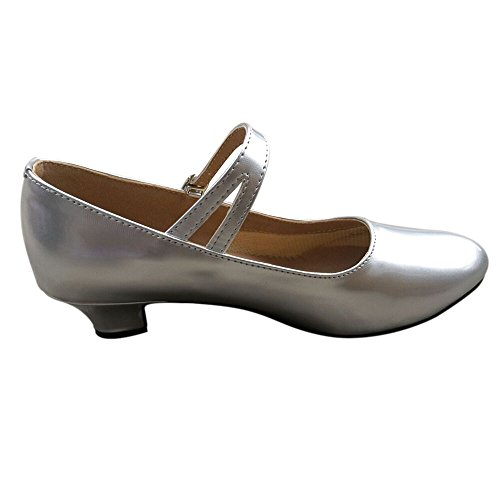 Sole Waltz Shoes 3 Leather PU Heel Salsa Kitten Ballroom Silver Dance Latin Ladies Tango Leather Heel Glitter 5 qf6pP8w