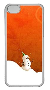 Customized Case Laughing Christmas Snowmen PC Transparent for Apple iPhone 5C