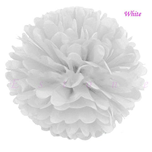 Wow Costume Sham (10 Pcs Tissue Paper Pom Poms Flower Ball Xmas Party Wedding Baby shower Home Decore 10