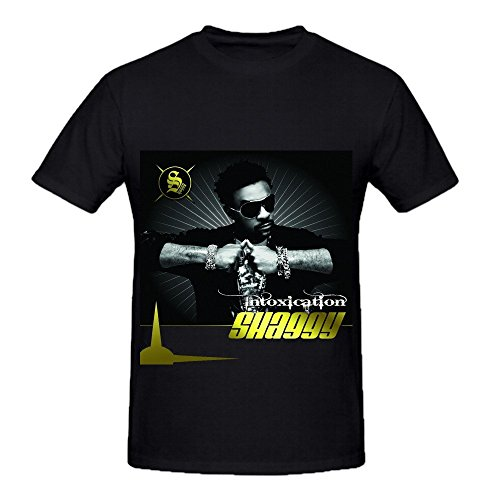 Shaggy Intoxication Hits Men Crew Neck Music Tee - Gosling With Off Shirt Ryan