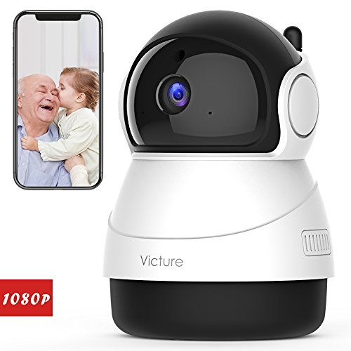 Victure 1080P FHD WiFi IP Camera Indoor Wireless Security Camera with Motion Detection Night Vision Home Surveillance Monitor with 2-Way Audio for Baby/Pet/Elder by Victure