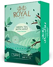 Royal Green Tea With Mint ,12 Bags