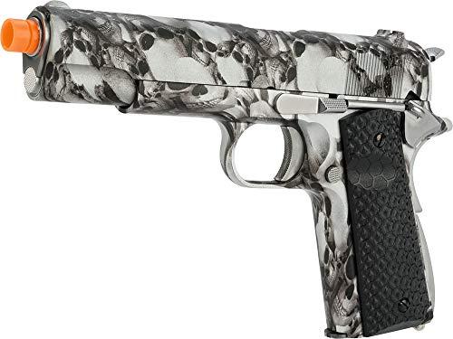 Evike AW Custom NE2101 Full Metal 1911 Gas Blowback Airsoft Pistol - SkullCam ()